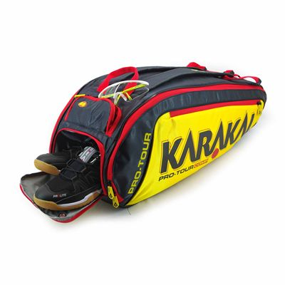 Karakal Pro Tour Comp 9 Racket Bag AW18 - In Use