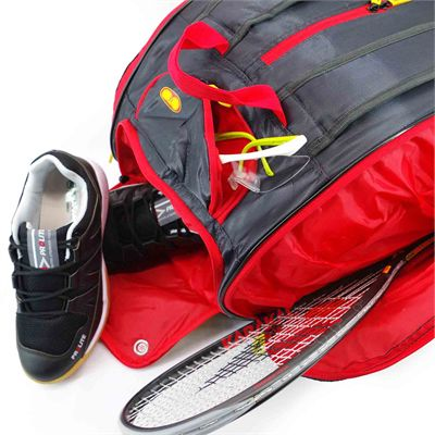 Karakal Pro Tour Elite 12 Racket Bag AW18 - In Use2