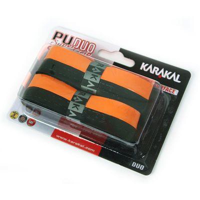 Karakal PU Duo Super Replacement Grip-Black-Orange