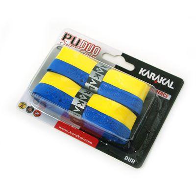 Karakal PU Duo Super Replacement Grip-Blue-Yellow