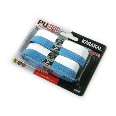 Karakal PU Duo Super Replacement Grip-White-Blue
