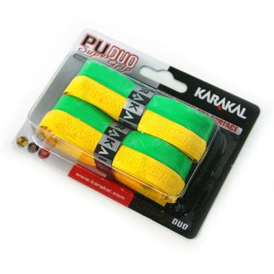 Karakal PU Duo Super Replacement Grip-Yellow-Green