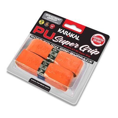 Karakal PU Super Replacement Grip - Orange - Angle