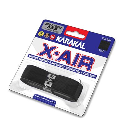 Karakal X-Air Replacement Grip- Black Angle