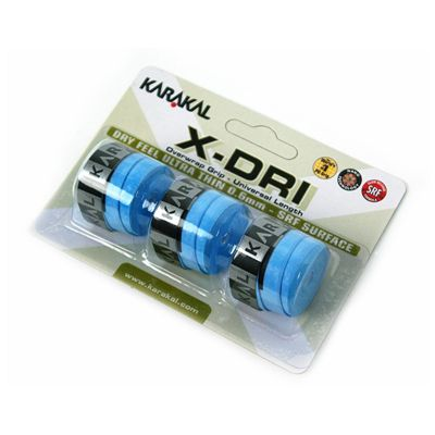 Karakal X-Dri Overwrap Grip-Blue-Pack of 2