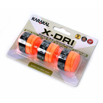 Karakal X-Dri Overwrap Grip-Orange-Pack of 2