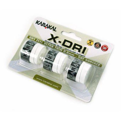 Karakal X-Dri Overwrap Grip-White-Pack of 2
