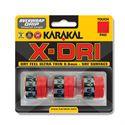 Karakal X-Dri Overwrap Grip - Pack of 3 - Red