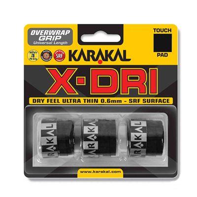 Karakal X-Dri Overwrap Grip - Pack of 3 - White - Black