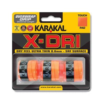 Karakal X-Dri Overwrap Grip - Pack of 3 - Orange
