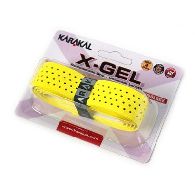 Karakal X-Gel Replacement Grip-Yellow