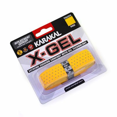 Karakal X-Gel Replacement Grip - Yellow - Angled