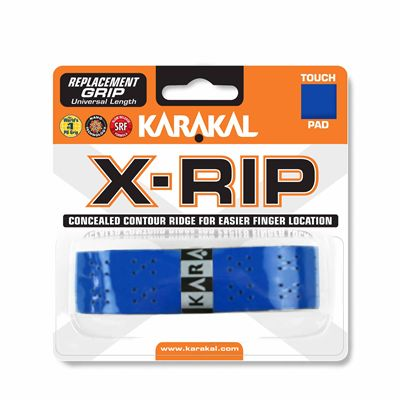 Karakal X-Rip Replacement Grip-White - Blue