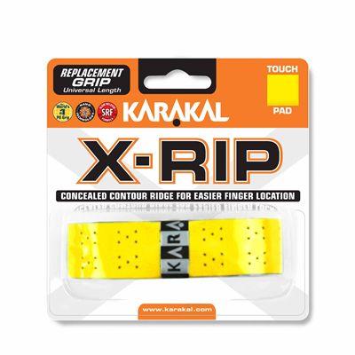 Karakal X-Rip Replacement Grip-White - Yellow