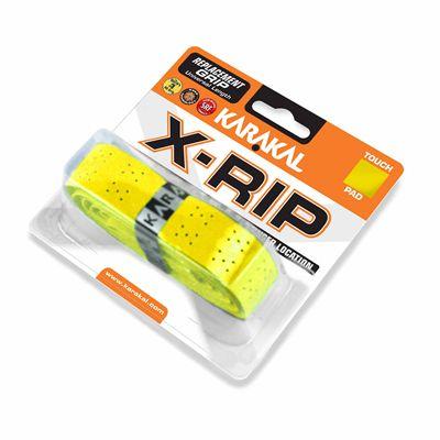 Karakal X-Rip Replacement Grip-White - Yellow Angle