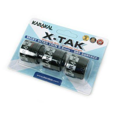 Karakal X-Tak Overwrap Grip-Black-Pack of 2