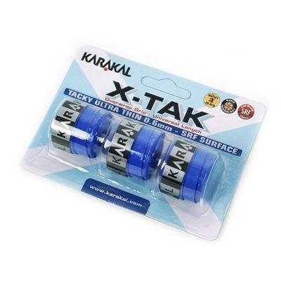 Karakal X-Tak Overwrap Grip-Blue-Pack of 2