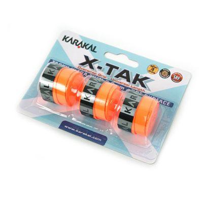 Karakal X-Tak Overwrap Grip-Orange-Pack of 2