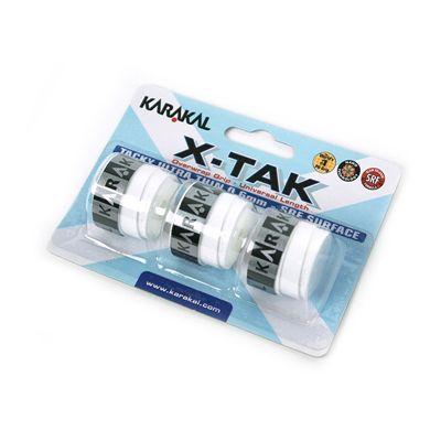 Karakal X-Tak Overwrap Grip-White-Pack of 2