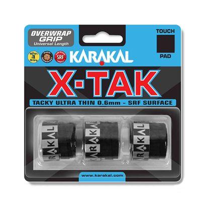 Karakal X-Tak Overwrap Grip - Pack of 3 - Black