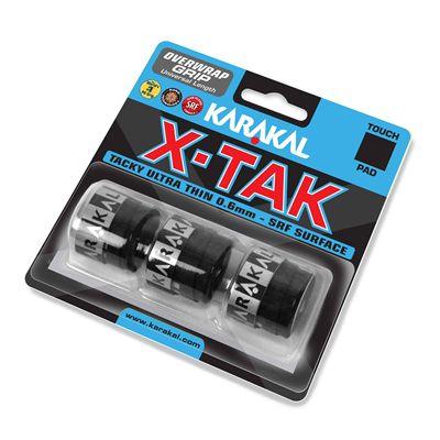 Karakal X-Tak Overwrap Grip - Pack of 3 - Black Angle