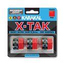 Karakal X-Tak Overwrap Grip - Pack of 3 - Red