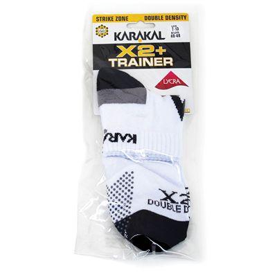 Karakal X2 Plus Mens Trainer Socks - Plastic Bag