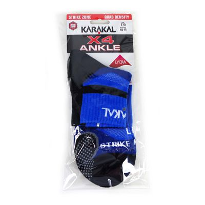 Karakal X4 Ankle Socks - Blue - Package