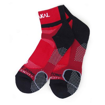 Karakal X4 Ankle Socks - Grey - Red