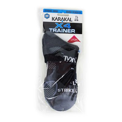 Karakal X4 Trainer Socks - Grey - Package