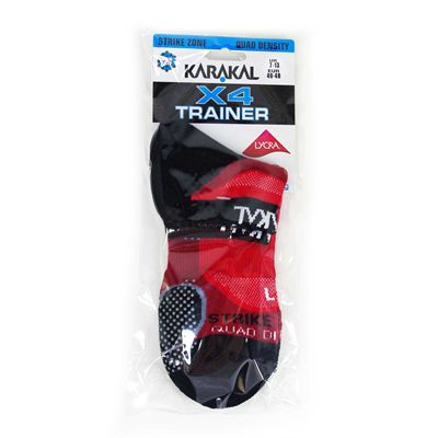 Karakal X4 Trainer Socks - Red - Package