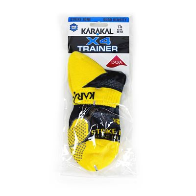 Karakal X4 Trainer Socks - Yellow - Package