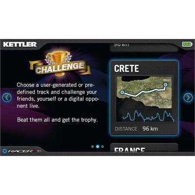 Kettler Racer S Ergometer Exercise Bike challenge mode
