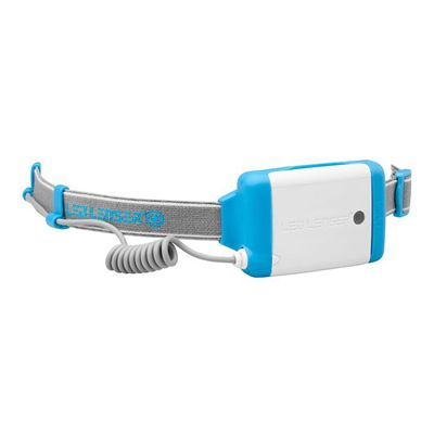 LED Lenser NEO Head Torch-Blue-Battery View