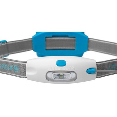 LED Lenser NEO Head Torch-Blue-Front View