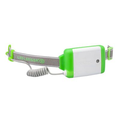 LED Lenser NEO Head Torch-Green-Battery View