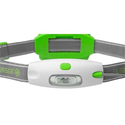 LED Lenser NEO Head Torch-Green-Front View
