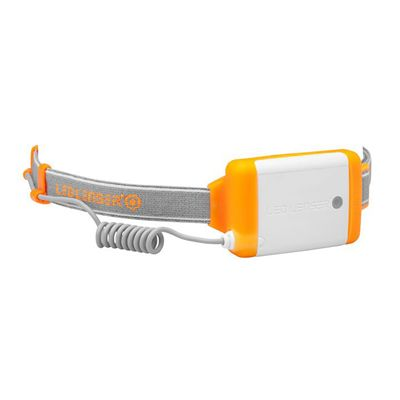 LED Lenser NEO Head Torch-Orange-Battery View
