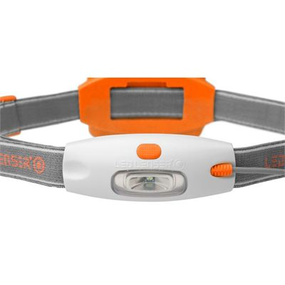 LED Lenser NEO Head Torch-Orange-Front View