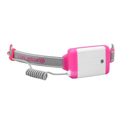 LED Lenser NEO Head Torch-Pink-Battery View