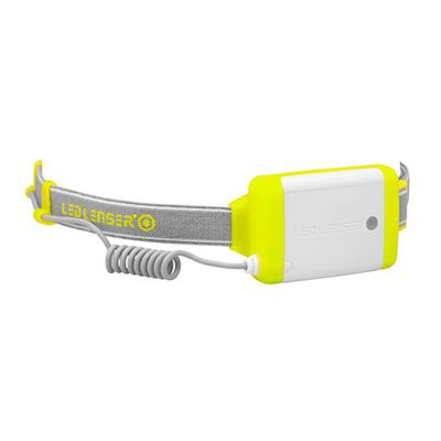 LED Lenser NEO Head Torch-Yellow-Battery View
