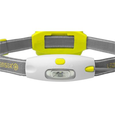 LED Lenser NEO Head Torch-Yellow-Front View