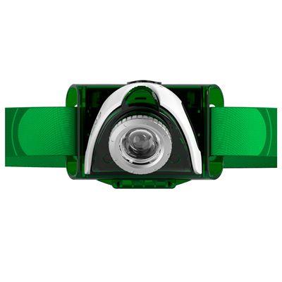 LED Lenser SEO3 Headlamp-Green-Front View