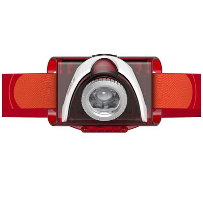 LED Lenser SEO5 Headlamp-Red-Front View