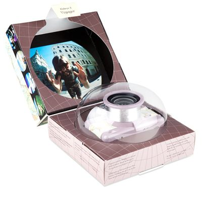 Lomography Fisheye 2 Voyager Camera - box