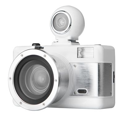 Lomography Fisheye 2 White Knight Camera - side view