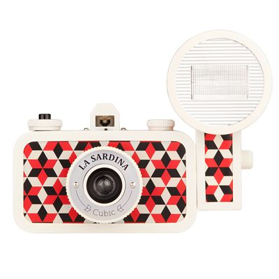Lomography La Sardina Cubic Camera with Flash - front view