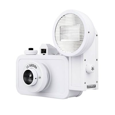 Lomography La Sardina DIY Camera with Flash - side view