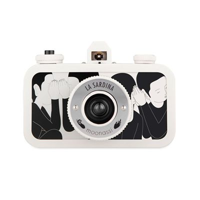 Lomography La Sardina Moonassi Camera - white front view