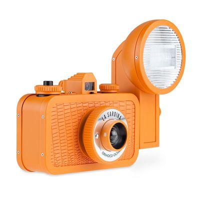 Lomography La Sardina Orinoco Ochre Camera with Flash Main Image